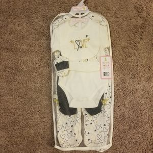 """Other - 7-Piece Infant """"Love"""" Layette Set"""
